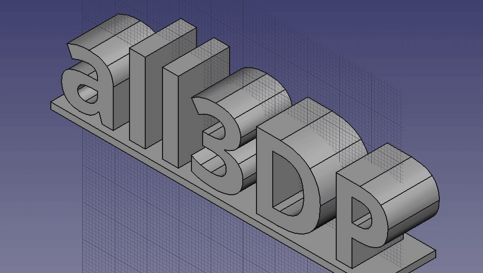 How to 3D Print Letters or Text using FreeCAD | All3DP