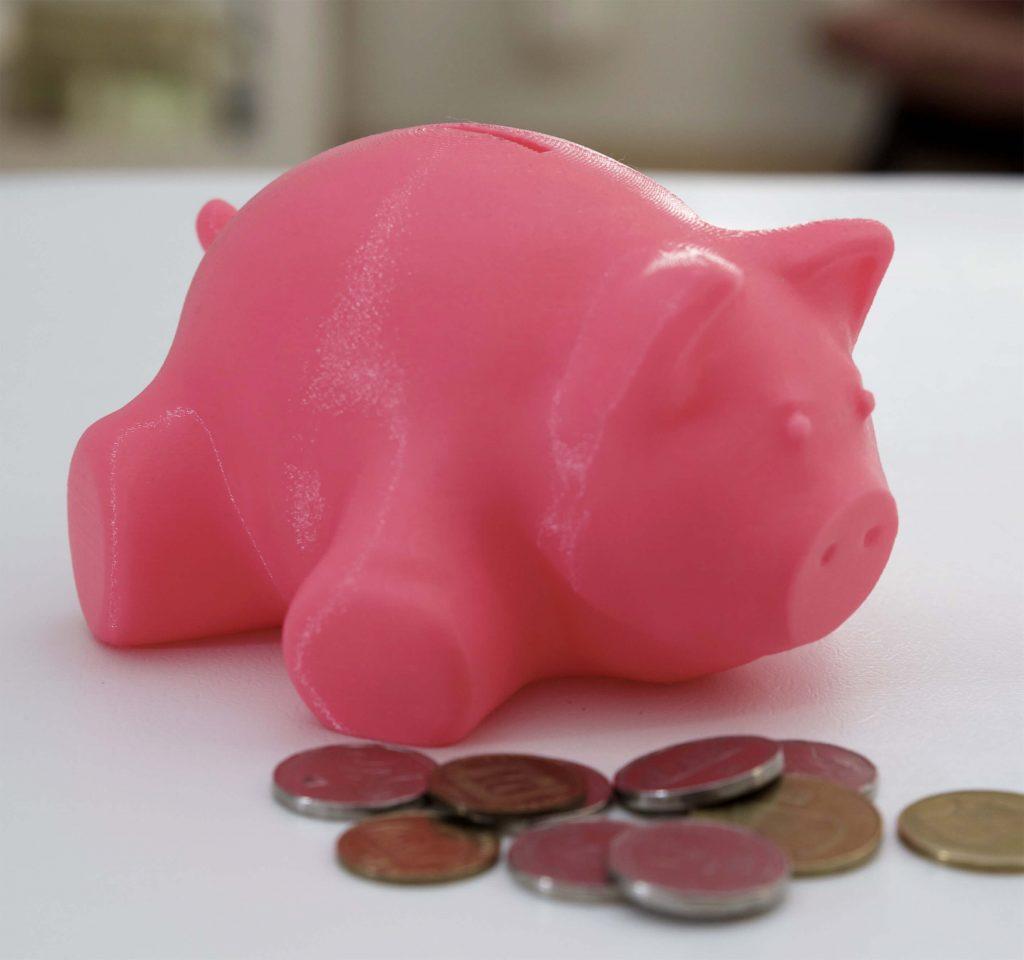 Philip 3D printed a piggy bank for his son Joe
