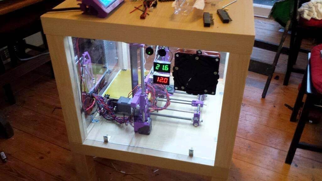 Build Your 3d Printer Enclosure From Upcycled Ikea Furniture All3dp