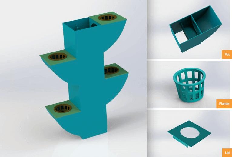 3DPonics setup for growing medical marijuana