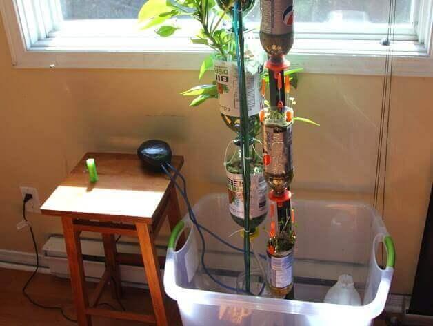 3D Printed hydroponics: An example 3DPonics indoor setup