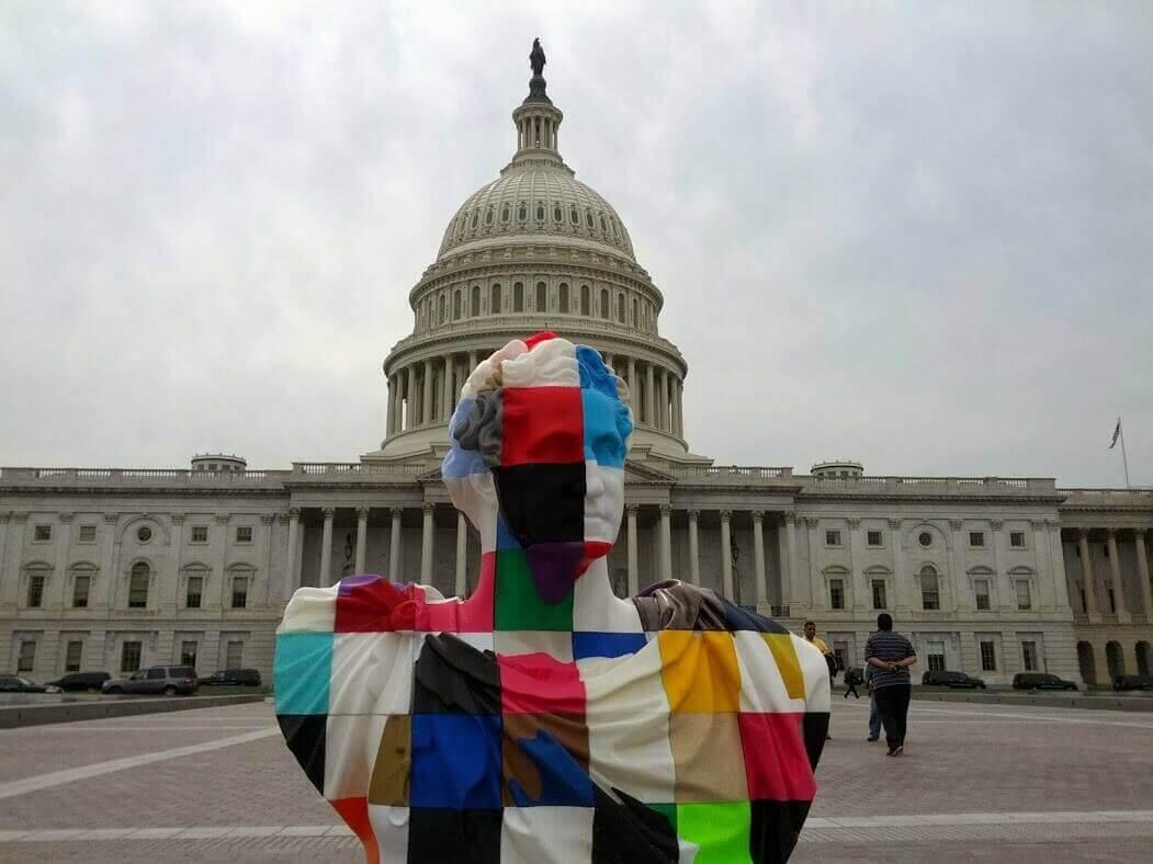 Crowdsourced Patriotic Bust