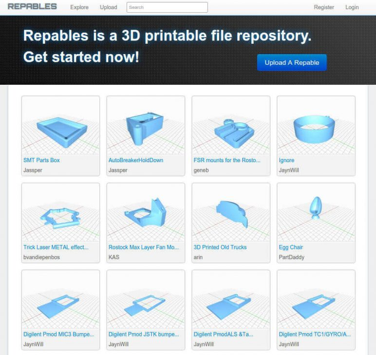 Image of Free STL Files, 3D Printer Models & 3D Printer Files: Repables