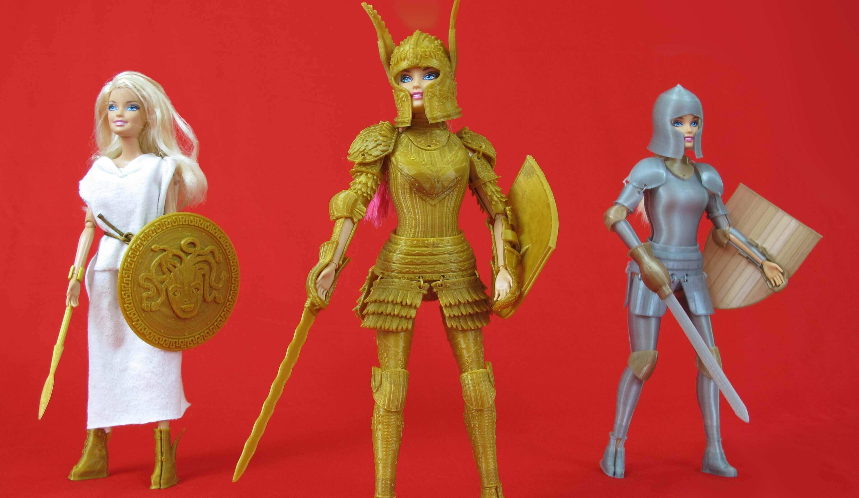 Dollies Get Makeovers With 3D Printed Barbie Armor | All3DP