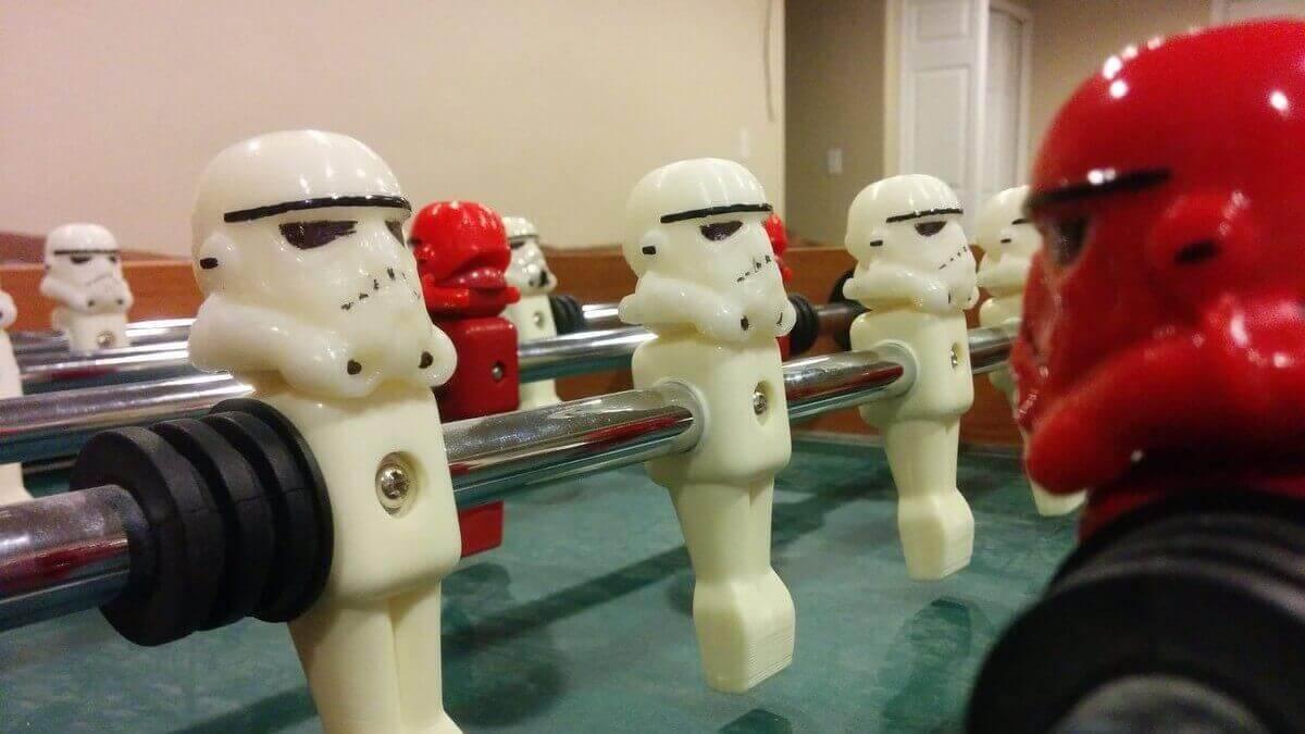 Star Wars: 3D Printed Stormtrooper Foosball Heads | All3DP