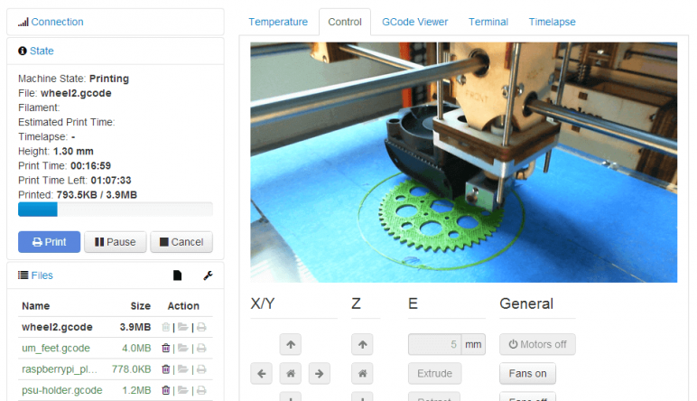 Image of 3D-Drucker-Software kostenlos: OctoPrint