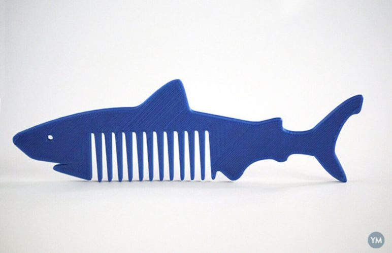 Image of Easy & Fun Things to 3D Print in an Hour (or Less): Shark Comb