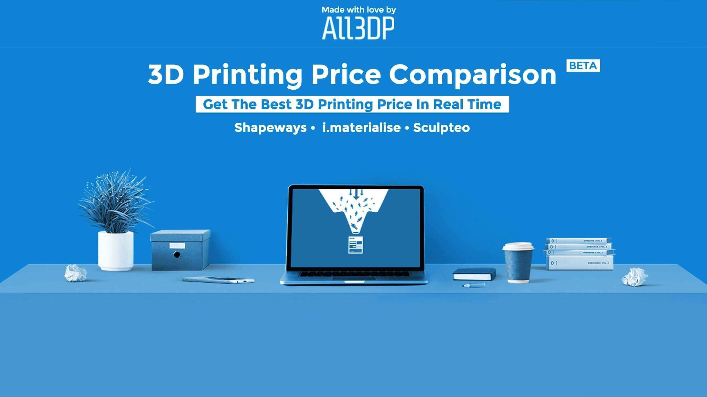 New 3D Printing Price Comparison Service Launched | All3DP