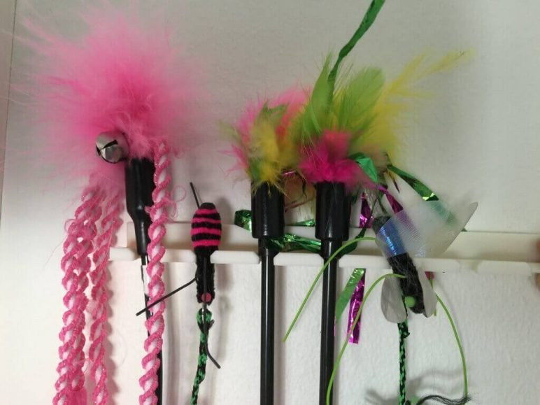 Image of 3D Printed Cat Accessories: Cat Toy Rack