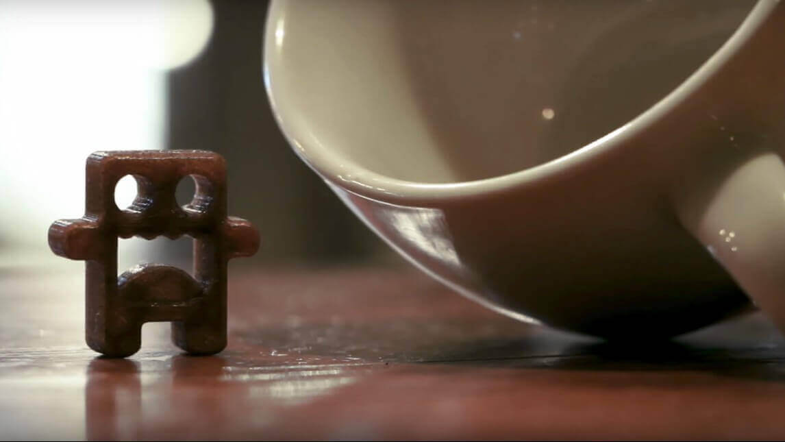 """Sustainable 3D Printing with """"Wound Up"""" Coffee Filament 
