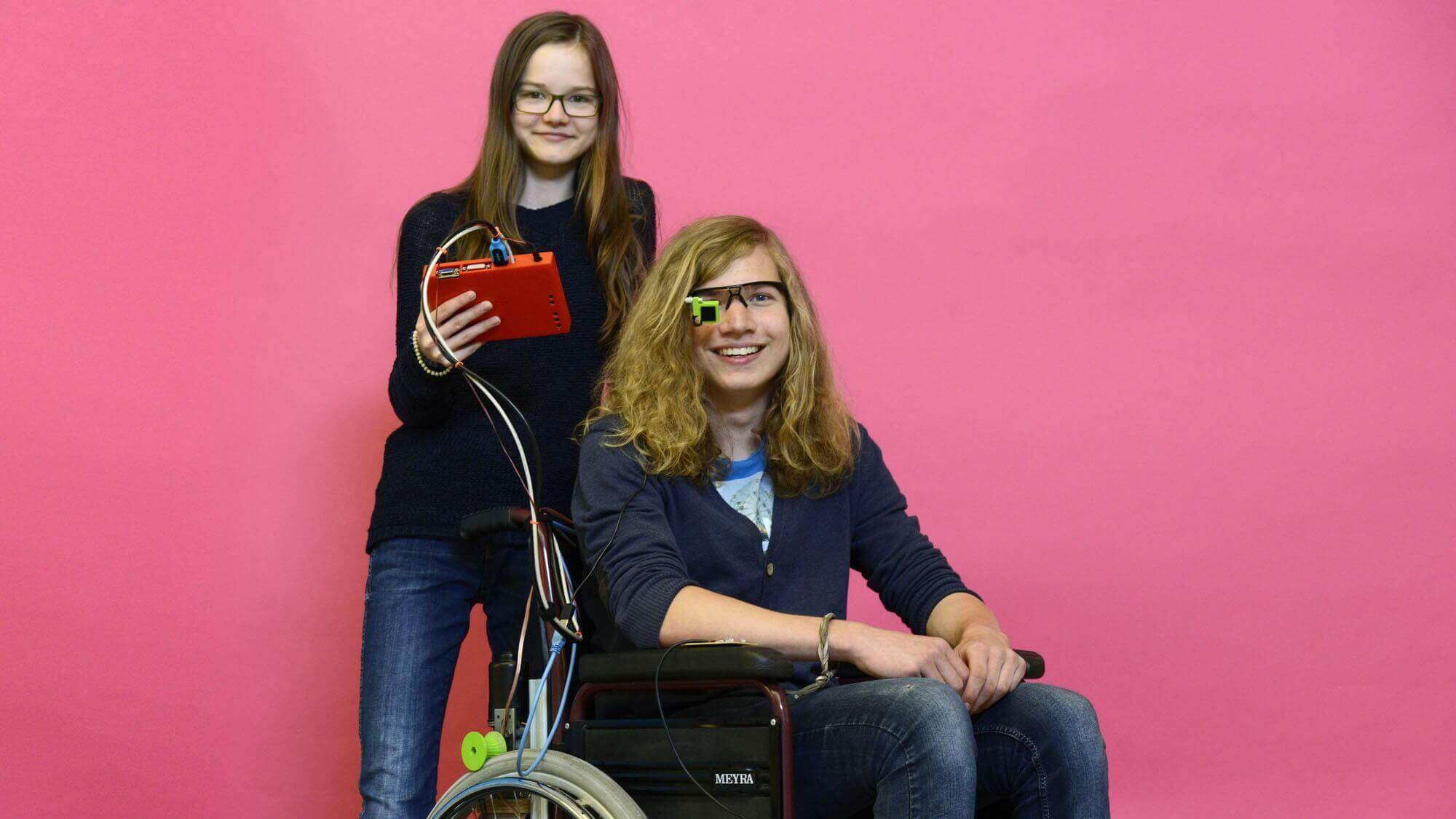 German Teens Build a Low-Cost Eye-Controlled Wheelchair | All3DP