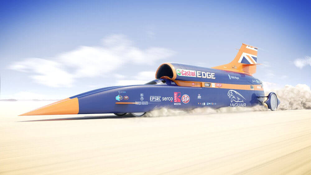 3D Printing Steers the Bloodhound Super-Sonic Car | All3DP