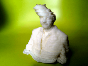 """Shifted layers in Fred Kahl's """"3D printer hangover"""""""