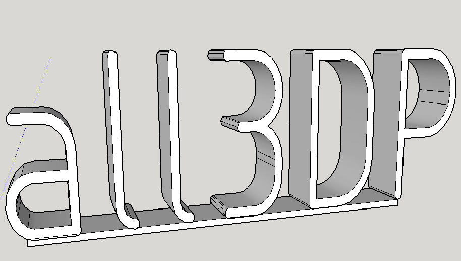 How To 3D Print Text Using SketchUp | All3DP