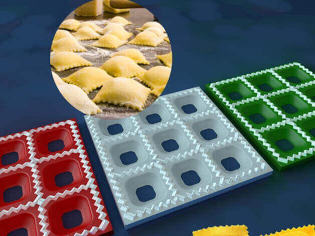 Image of 30 tolle Küchenhelfer aus dem 3D-Drucker: Ravioli-Form