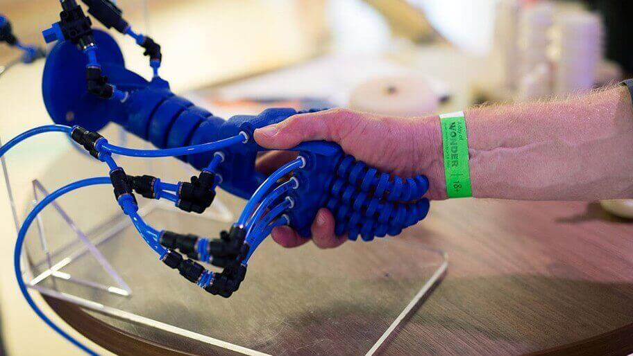 Soft Robotics: Shake Hands With 3D Printed Robot Hand | All3DP