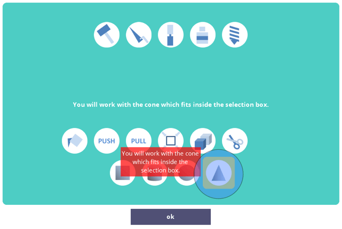 Select the Cone tool.