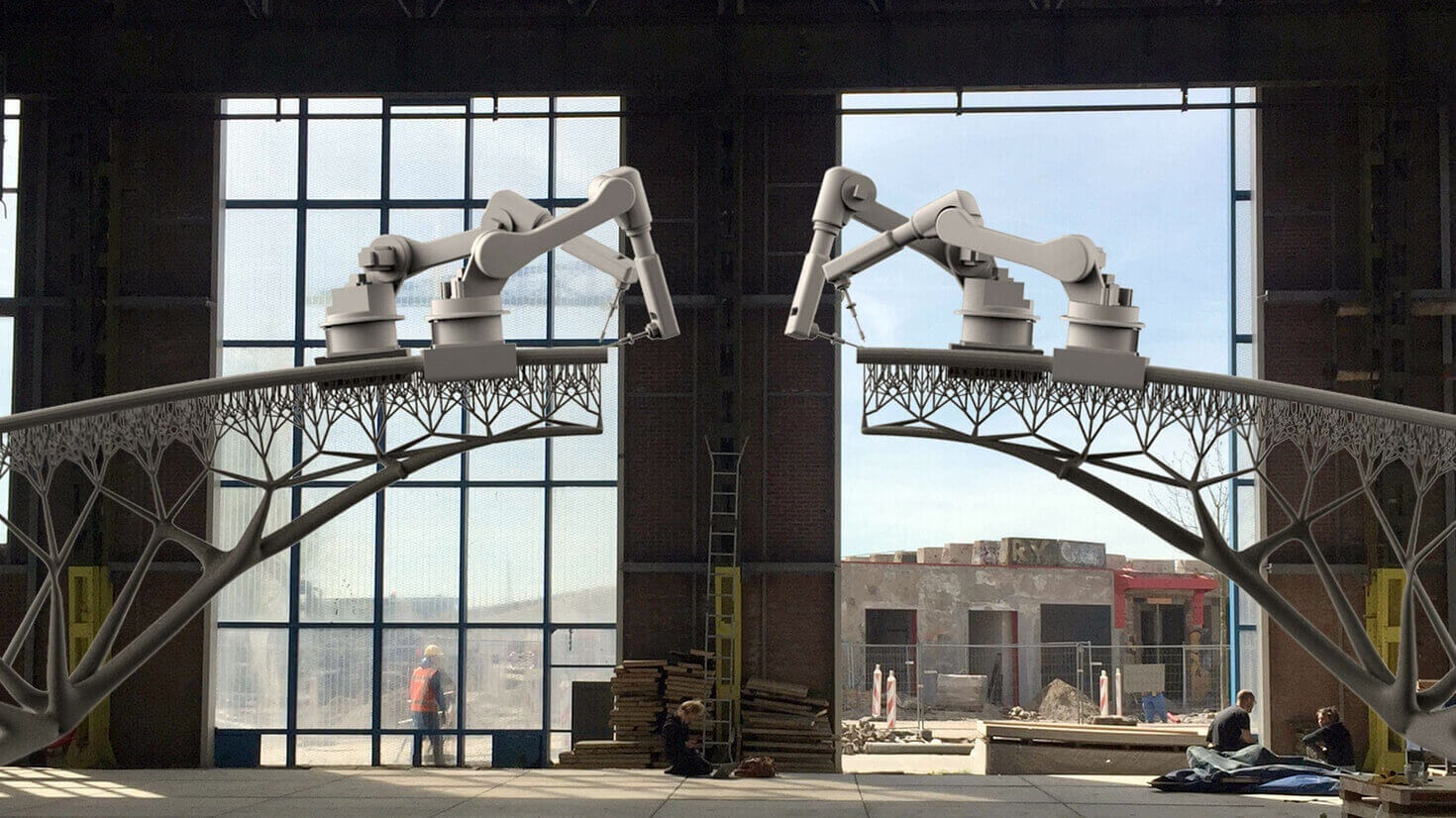 3D Printed Bridge Construction Begins in Amsterdam | All3DP