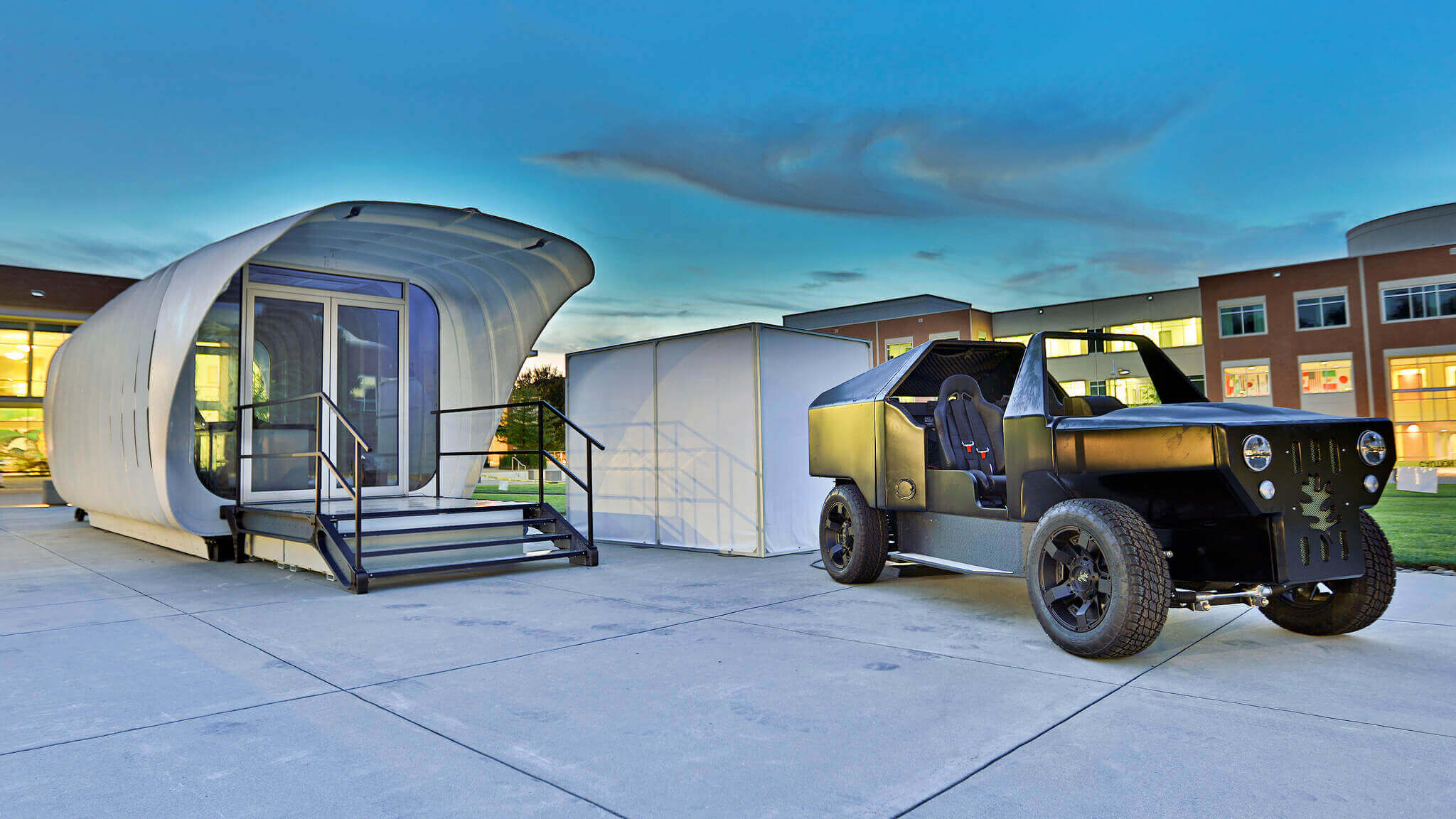 Boffins invent 3D Printed Home and Car with Bi-Directional Energy Flow | All3DP