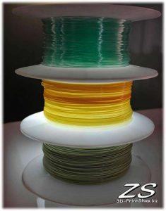 Pour les imprimantes FDM, vous pouvez obtenir des filaments dans de nombreux coloris et même dans des dégradés de couleurs (image:D-Printshop.biz)