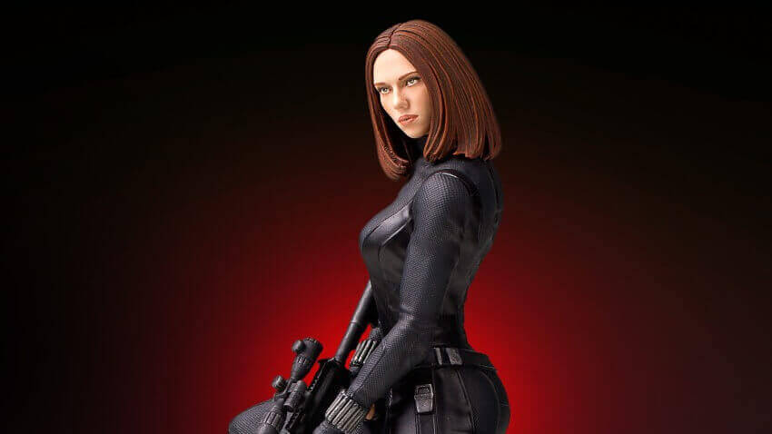 Gorgeous 3D Printed Black Widow Statue Arriving... in 2016??!? | All3DP
