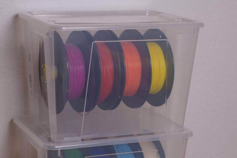 Image of 3D Printing Ideas – 30 Simple IKEA Hacks to 3D Print: SAMLA Filament Storage Solution