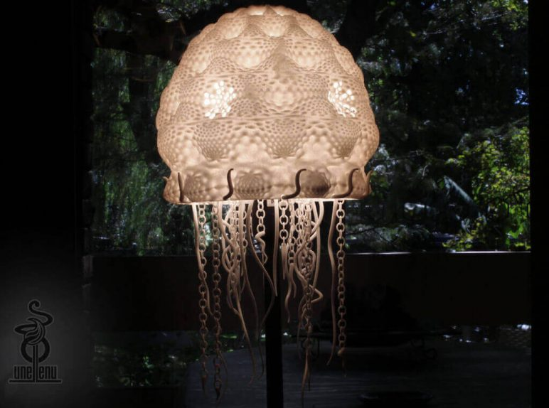 Image of 3D Printing Ideas – 30 Simple IKEA Hacks to 3D Print: HEMMA Jellyfish Lampshade