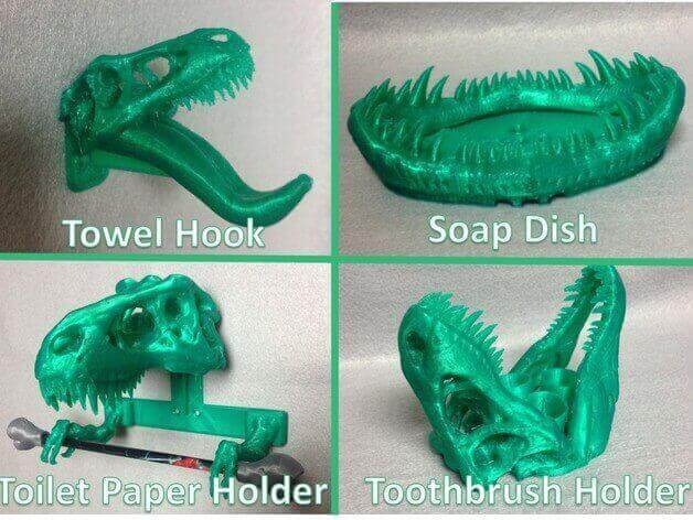 Superbe Enough Items For A Full Dinosaur Themed Bathroom. (source: Thingiverse)