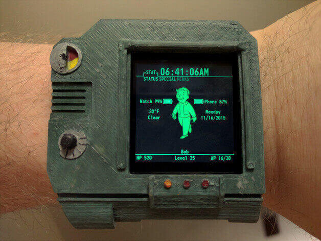 Turn your LG G Smartwatch Into A Fallout Pip-Boy | All3DP