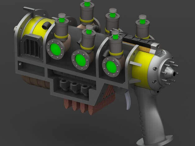 Image of Fallout Props & Toys to 3D Print: Fallout 4 Plasma Pistol