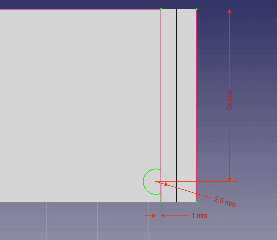 Create the counterpart to the bottom pins.