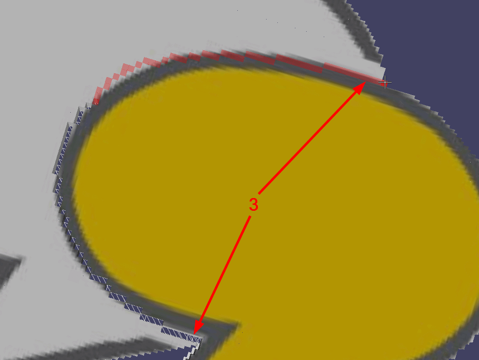 Use the Chisel to cut out along the contours of the yellow bubble.