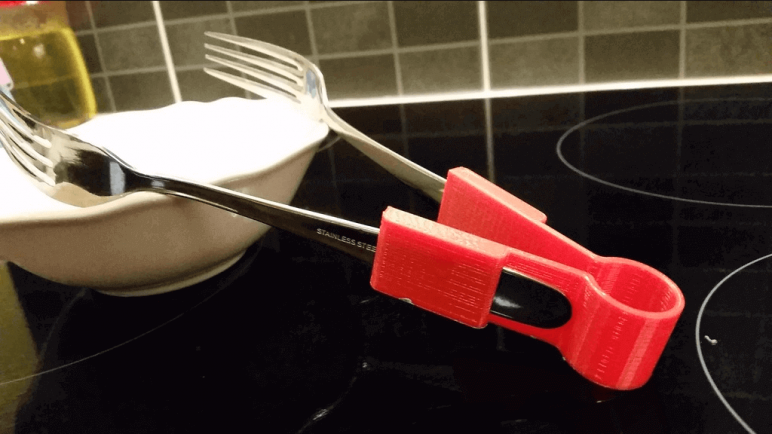 Image of Cool Kitchen Gadgets to 3D Print: Fork Tongs