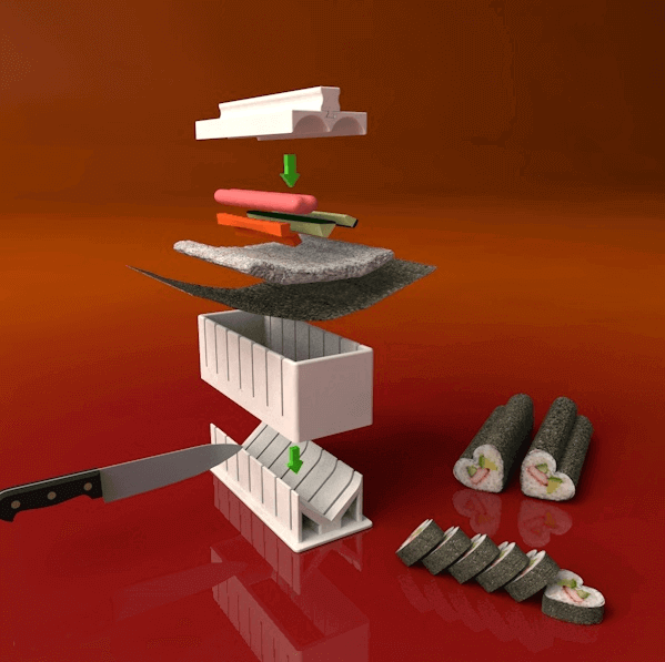 Image of Cool Kitchen Gadgets to 3D Print: Sushi Maker Set