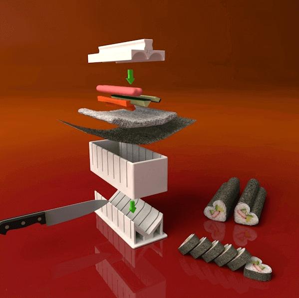 Image of 30 tolle Küchenhelfer aus dem 3D-Drucker: Sushi Maker