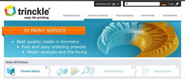 Image of Online 3D Printing Service: Trinckle