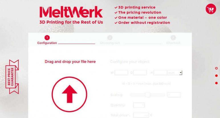 Image of Online 3D Printing Service: MeltWerk