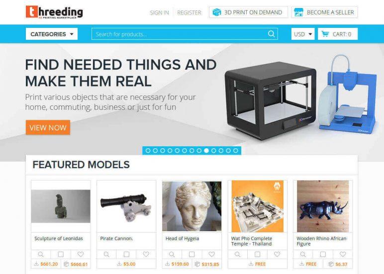 Image of Arquivos STL gratuitos e modelos de impressão 3D: Threeding