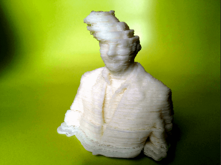 """Shifted layers in Fred Kahl's """"3D printer hangover"""" (source: Fred Kahl on Flickr)"""