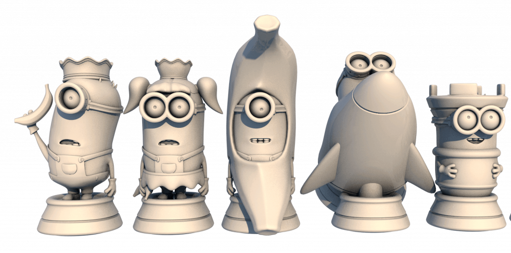 First steps - Minions chess set from My Mini Factory