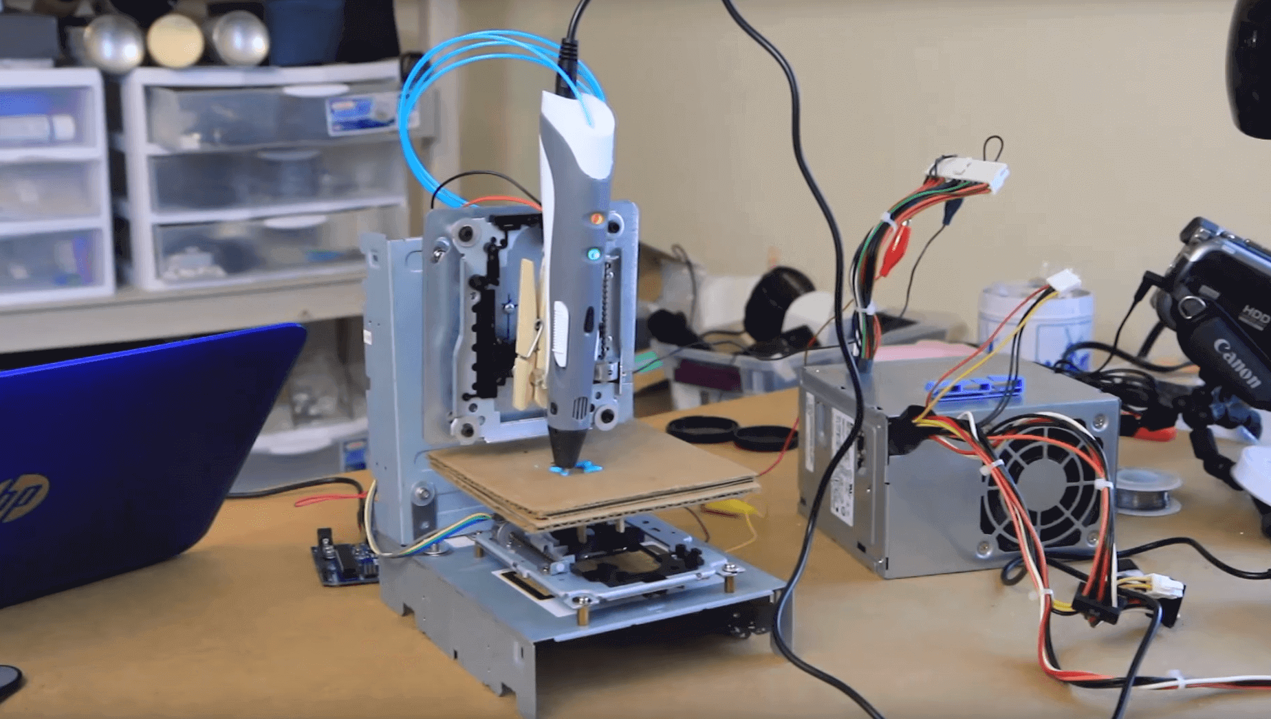 Build a Super Cheap DIY 3D Printer from Old CD-ROM Drives | All3DP