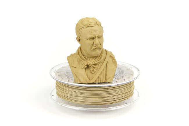 """PLA vs ABS: """"Bamboofill"""" filament from ColorFabb contains 80% PLA and 20% recycled bamboo fibres (image: ColorFabb)"""