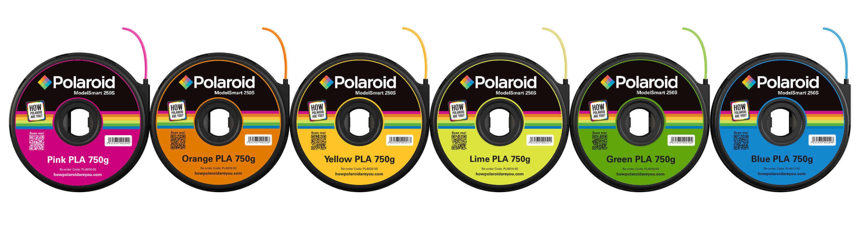 Polaroid 3D Printer Filaments (Image: Polaroid)