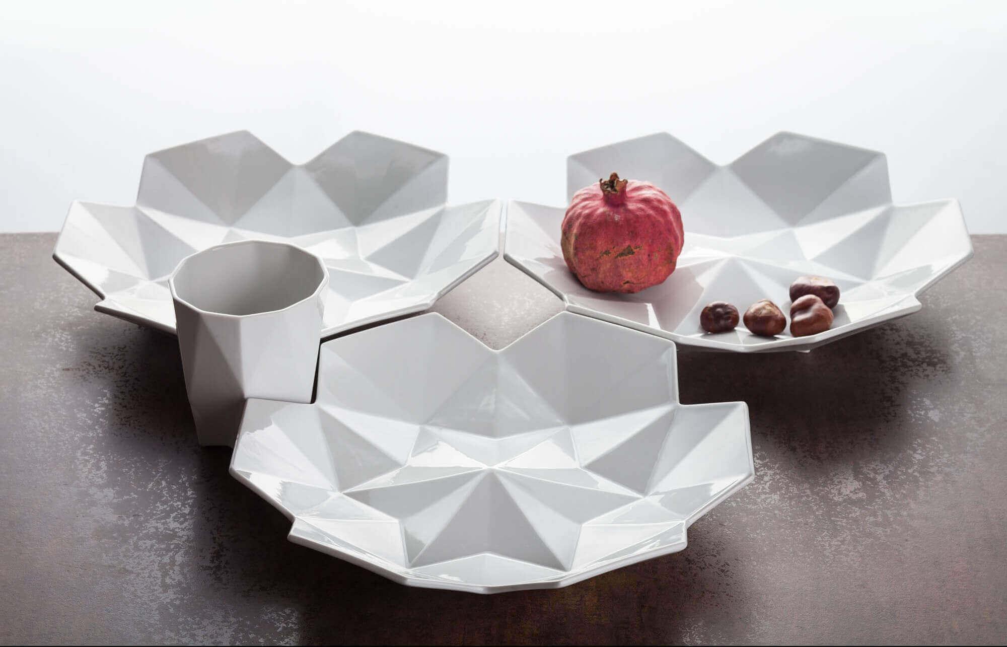 Czech Cubism Is 3D Printed As Fancy, Gorgeous Dinnerware | All3DP