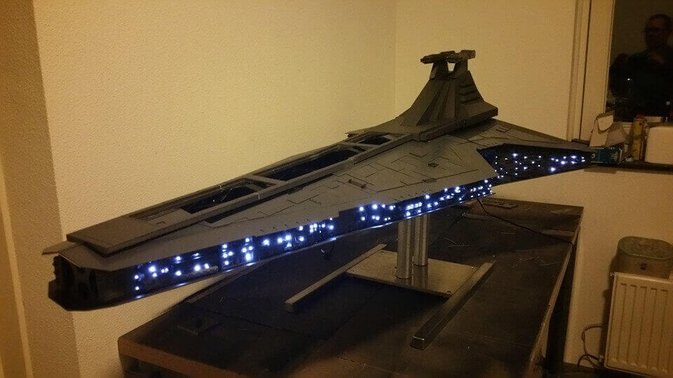 Huge 3D Printed Star Destroyer Case Mod Is Epic in the Extreme | All3DP