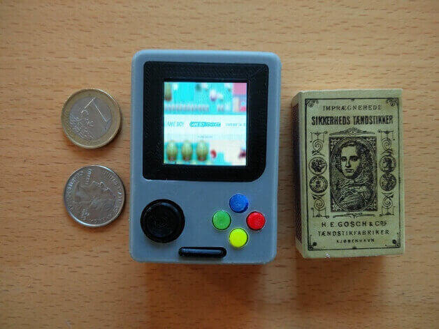 Image of RetroPie Case: GameBoy Nano (Raspberry Pi Handheld Console)