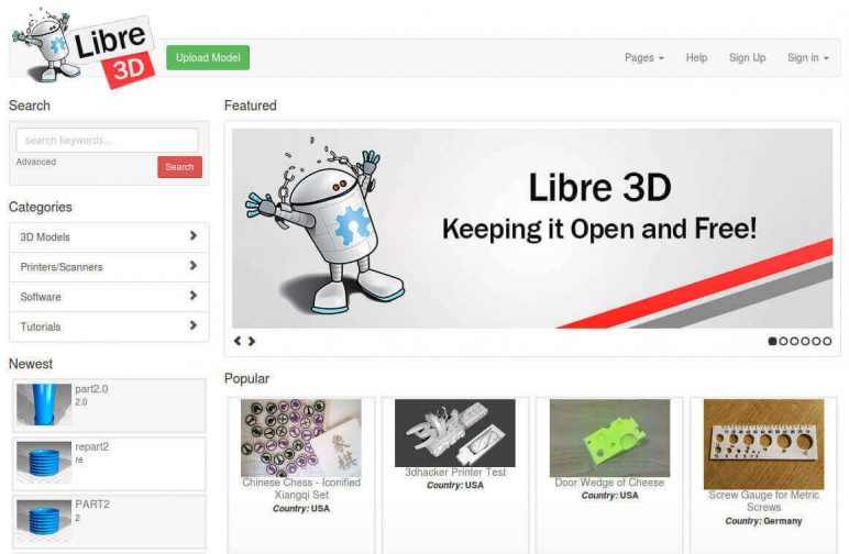 Image of Arquivos STL gratuitos e modelos de impressão 3D: Libre3D
