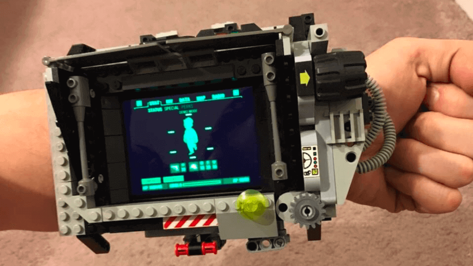 This Pip-Boy was made from Lego bricks. Man, we'd love to see an Instructible on this fabulous piece (image: brosumi)