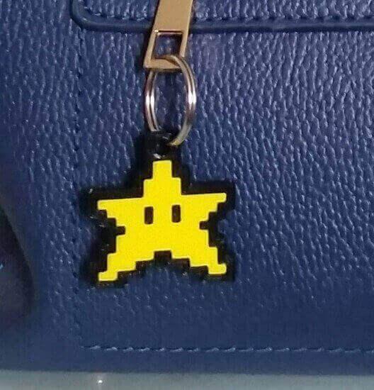 Star Keychain from Super Mario World