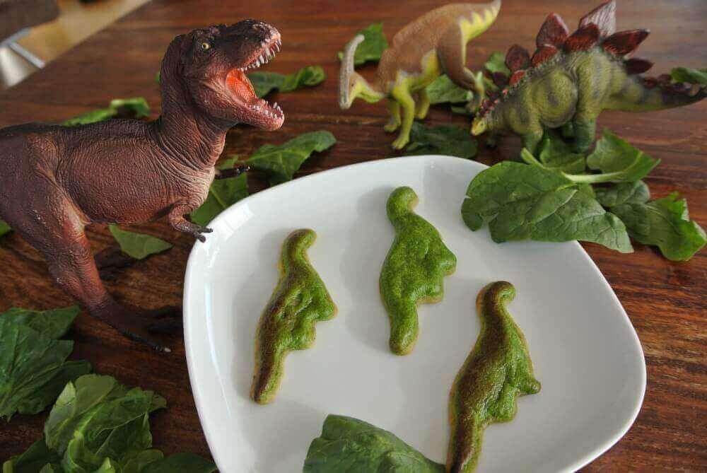 Spinach Quiche Dinosaurs